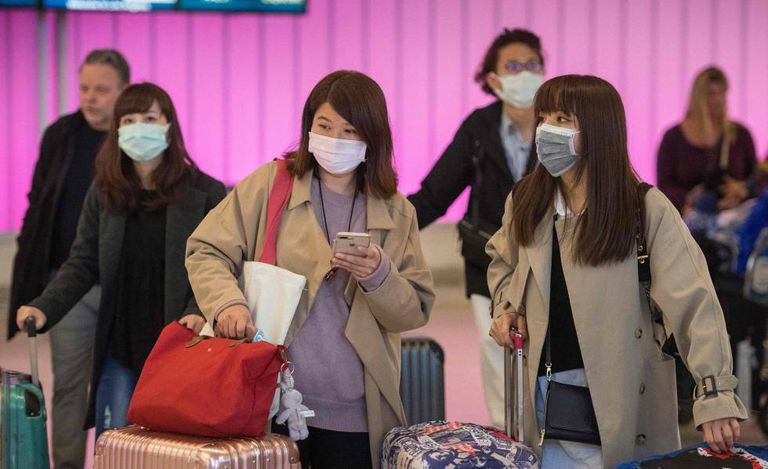Passengers arriving at Los Angeles airport on Wednesday.