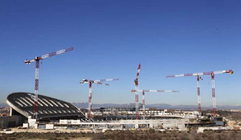 A view of the construction work at La Peineta stadium in March.